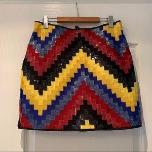 H&M Sequin Zig-zag Skirt